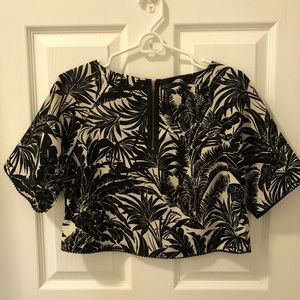 Topshop crop blouse